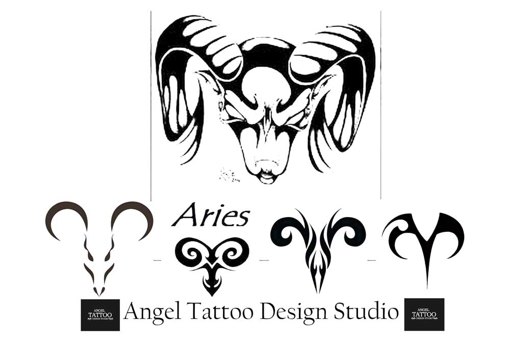 zodiac sign and tattoo designs | sun sign tattoos | horoscope sign