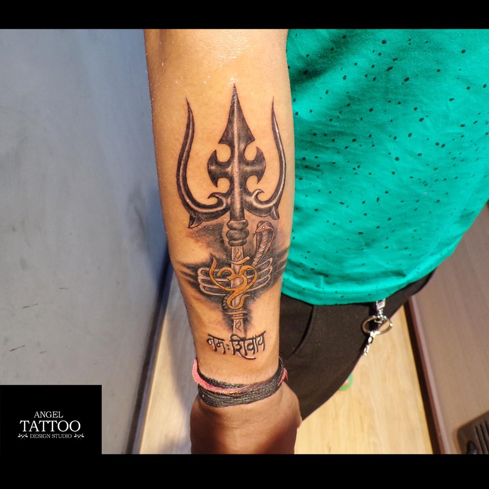 20 Best Trishul Tattoo | Trishul Tattoo Designs | Lord ... 3d Trishul Tattoo