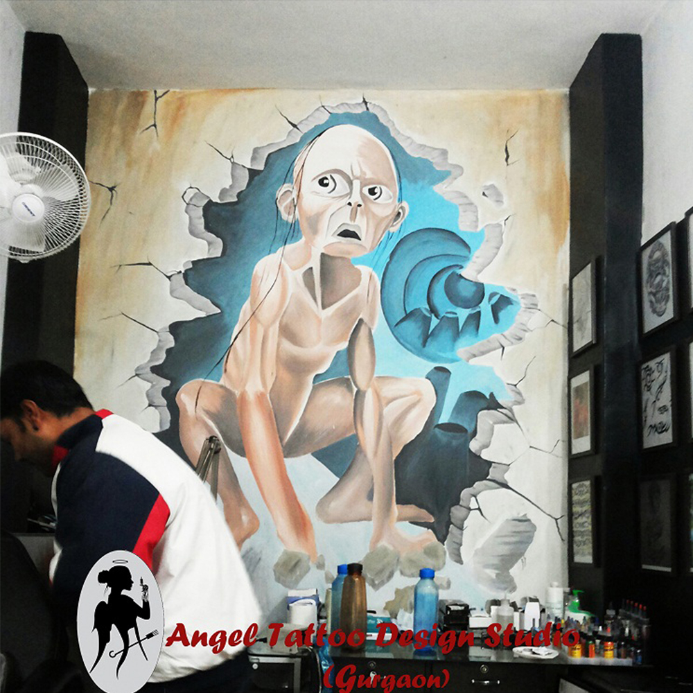 Wall Paintings Graffiti and and Wall Tattoos in Gurgaon Delhi India