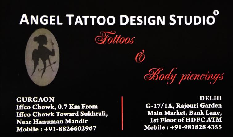 Angel Tattoo Design Studio Contact Details of Tattoo Artist Shops