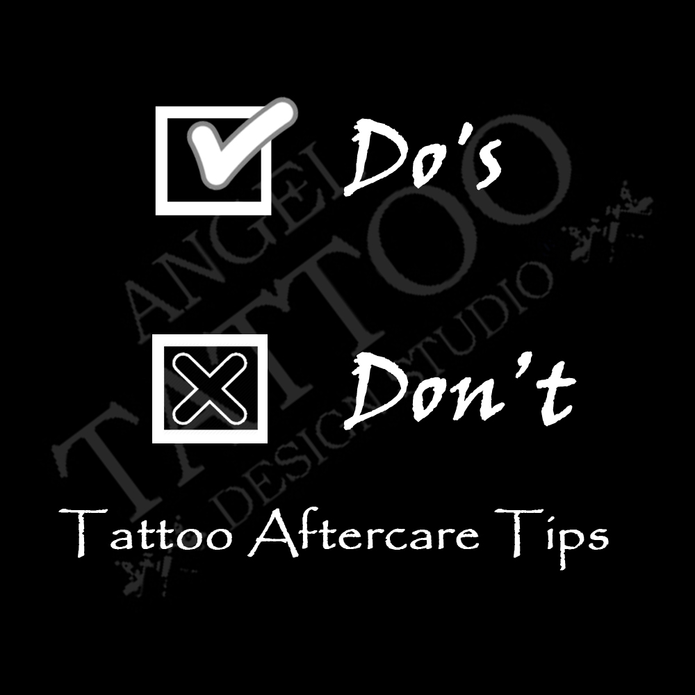 tattoo aftercare tips and guidance